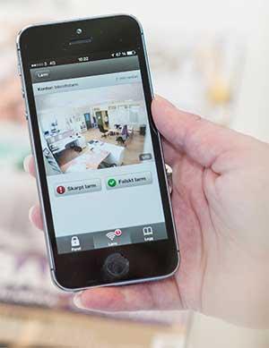 Lägenhetslarm med app, kamera och branddetektor som du äger