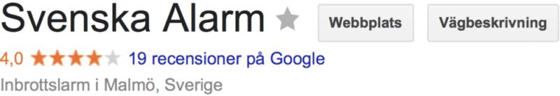 omdöme erfarenhet av Svenska Alarm