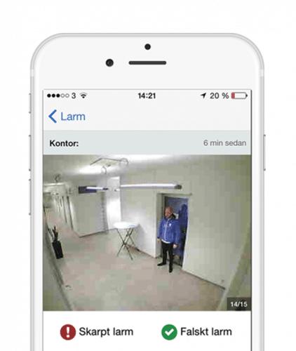 Du sköter vårt inbrottslarm enkelt med vår app