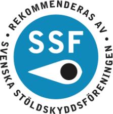 Våra hemlarm, villalarm och inbrottslarm är godkända av SSF